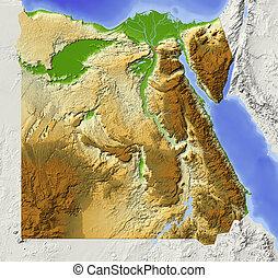 Ägypten, abgeschirmte Landkarte