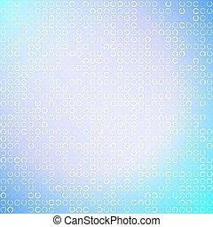 Ändern Sie weiße Kreise auf hellblauem Hintergrund, Vektorgrafik.