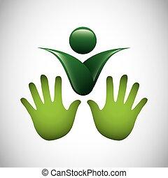 Ökologie Symbol isoliert Ikone.