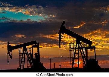 Ölpumpen. Ölindustrie-Ausrüstung.