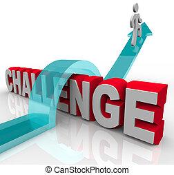 Über eine Herausforderung springen, um Erfolg zu haben