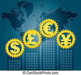 -, major, begriff, finanziell, währungen