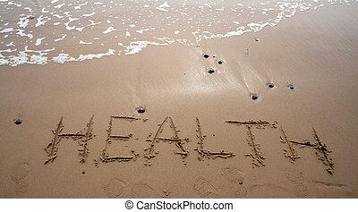 -, sand, gesundheit, schreibende