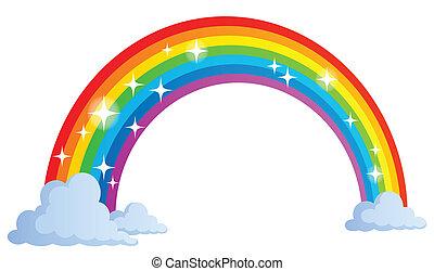 1, regenbogen, bild, thema