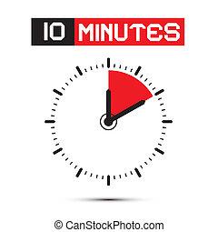 10 Minuten Stoppuhr - Uhr Vektorgrafik der Uhr.