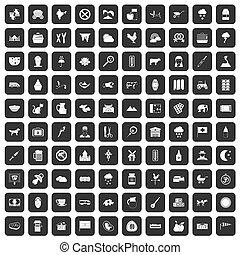 100 Symbole sind schwarz.