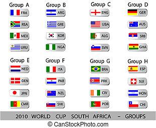 2010 Weltbecher südafrikanische Bälle - Gruppen