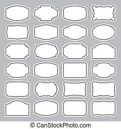 24 Blankoschecks (Vektor)