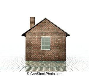 3-D-Haus-Modell.