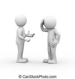 3 frustrierte Menschen streiten und streiten