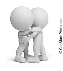 3. Person - freundliche Umarmung