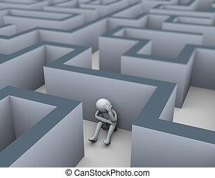 3. trauriger Verlierer im Labyrinth