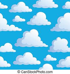 3, wolkenhimmel, seamless, hintergrund
