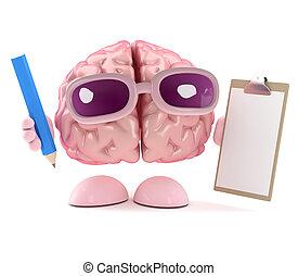 3d Brain ist organisiert.