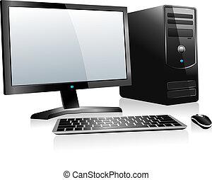 3D Desktop-Computer.