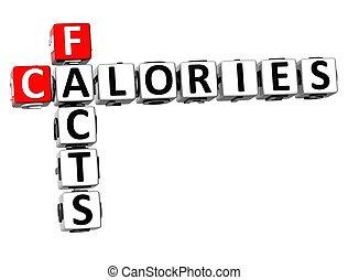 3D-Fakten kalorien Kreuzworträtsel.