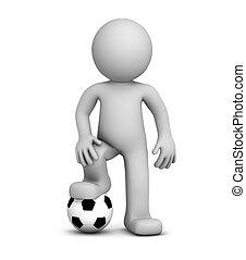 3d Footballspieler.