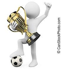3D Footballspieler - Weltmeister