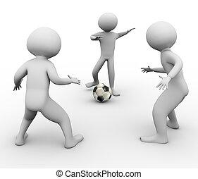 3D Fußballspieler