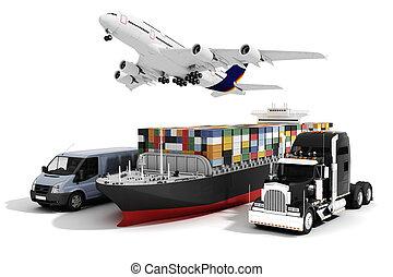 3D globales Handelskonzept