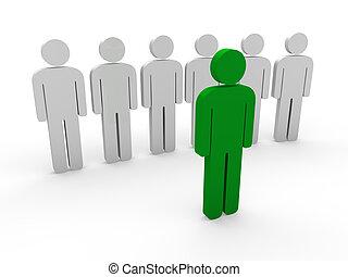 3d, grün, mannschaft