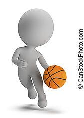 3d kleine Leute - Basketballspieler