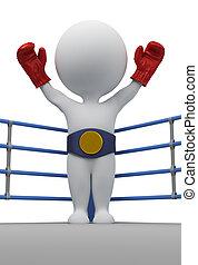 3d kleine Leute - Boxer der Champion