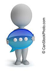 3d kleine Leute - Chat Icon
