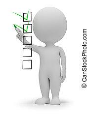 3d kleine Leute - Checkliste