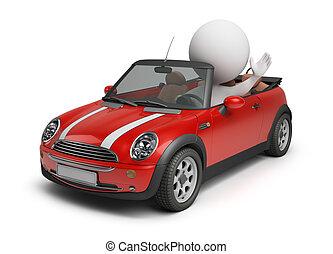 3d kleine Leute - ein kleines Auto