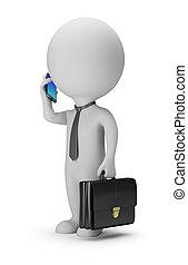 3d kleine Leute - Geschäftsmann mit Telefon