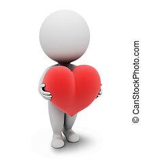 3D kleine Leute-Herz