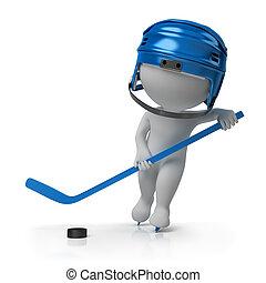 3d kleine Leute - Hockey