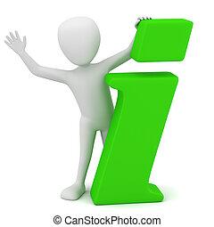 3d kleine Leute - Info-Icon