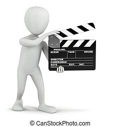 3D kleine Leute - Kinoklatscher.