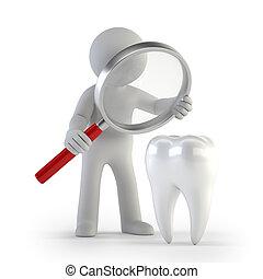 3d kleine Leute - Lupe Zahn.