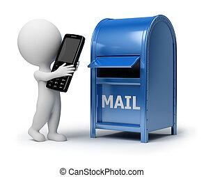 3d kleine Leute - Mailing ein Telefon