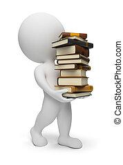 3d kleine Leute mit Büchern