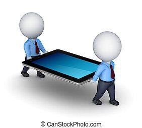 3d kleine Leute mit Tablet PC.