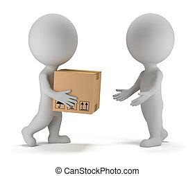 3d kleine Leute - Paketlieferung