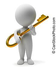 3d kleine Leute - Schlüssel