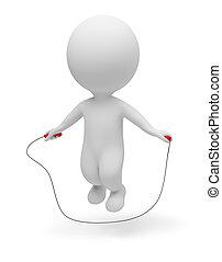 3d kleine Leute - Seilspringen