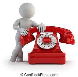 3d kleine Leute - telefonisch anrufen