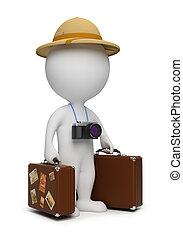 3d kleine Leute - Tourist