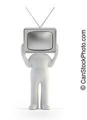 3d kleine Leute - TV-Mann.