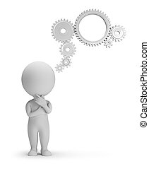 3d kleine Menschen - Gedankenmechanismus