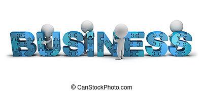 3d kleine Menschen - Konzept der Gründung eines Unternehmens