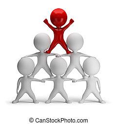 3d kleine Menschen - Pyramide des Erfolgs