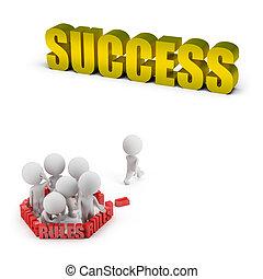 3d kleine Menschen - Regeln und Erfolg