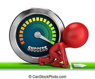 3d kleine Menschen - vorwärts zum Erfolg